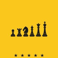 Chess pieces vector icon.