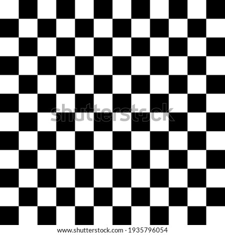 Chessboard Pattern. 12x12 Checkered Pattern. Vector Black White Squares Pattern. Stock photo ©