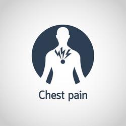 Chest Pain vector logo icon illustration