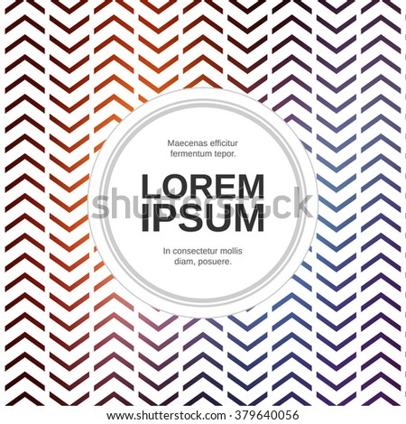 Chevron cover design. Blurred textured abstract background template. Pattern brochure, flyer background.