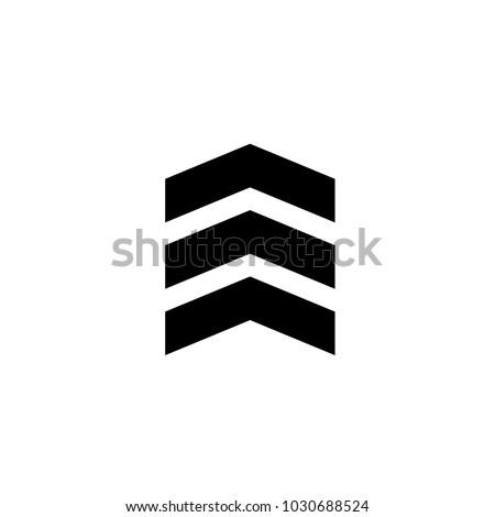 chevron icon in trendy flat