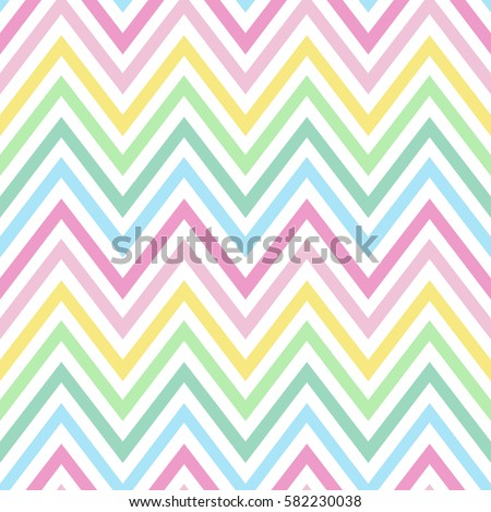 chevron pastel colorful spring pink blue yellow green turquoise pattern seamless vector.