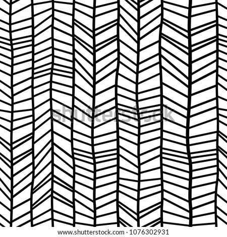Chevron pattern seamless hand drawn.