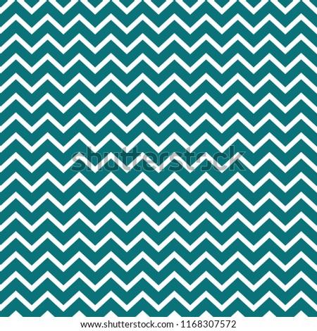 Chevron Seamless Pattern - Bold teal and white chevron or zig zag pattern