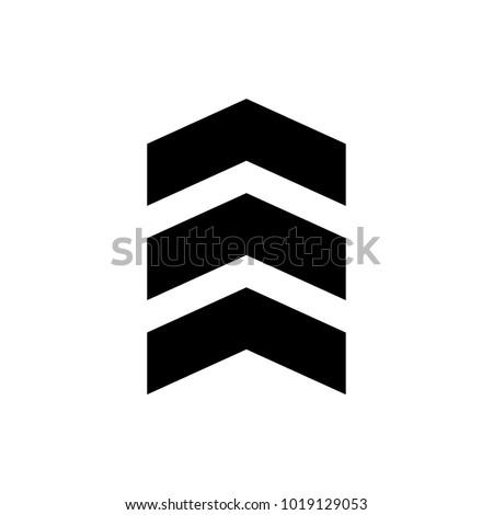 chevron vector icon - Shutterstock ID 1019129053