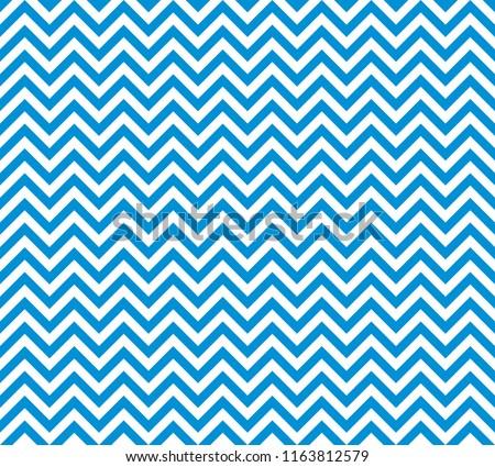 Chevron Zigzag Wave Seamless Pattern Blue. Vector.