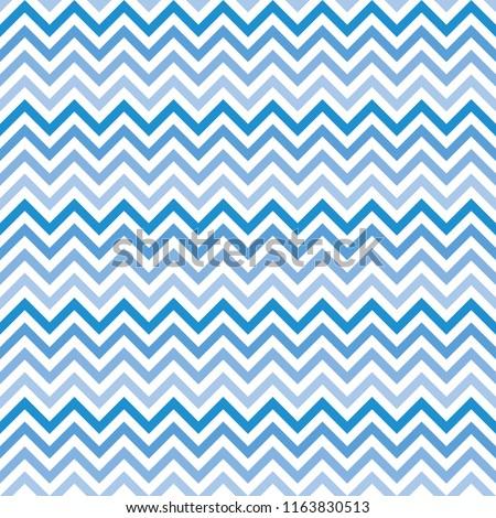 Chevron Zigzag Wave Seamless Pattern Gradient Blue. Vector.