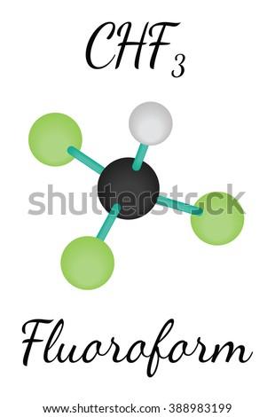 chf3 fluoroform molecule