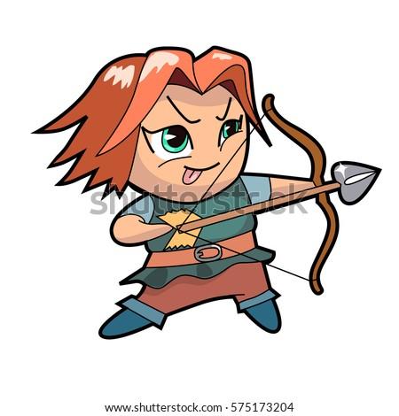 chibi boy character archer