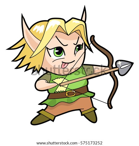 chibi boy character elf archer