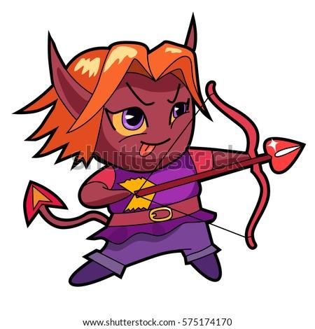 chibi boy character imp archer