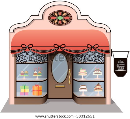 Chic Candy Store icon. Separately grouped. Easy edition. - stock vector