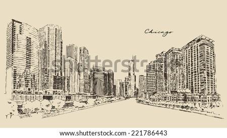 chicago  big city  architecture