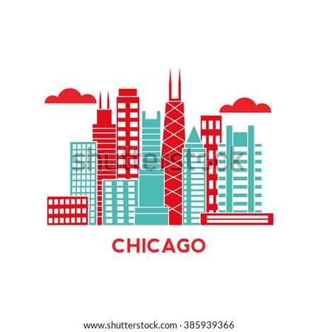 chicago city architecture retro