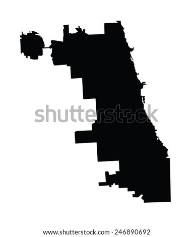 chicago city map vector map