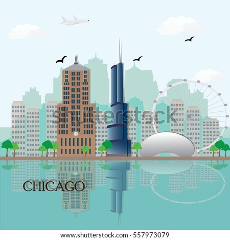 chicago city skyline with