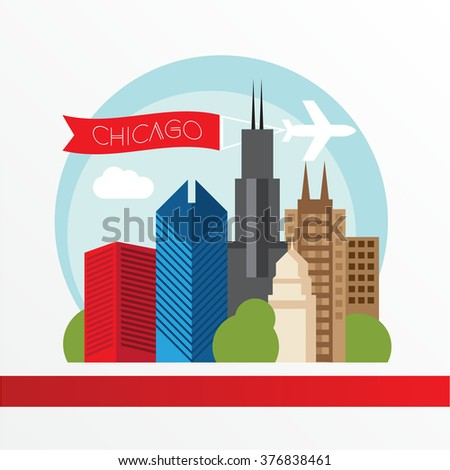 chicago  detailed silhouette....