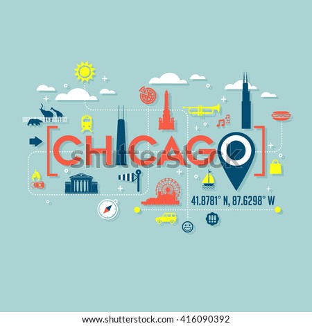 chicago icons and typography