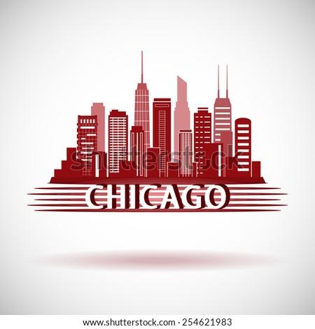 chicago illinois city skyline
