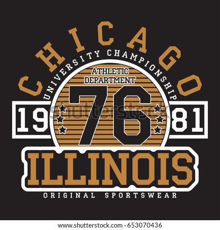 chicago  illinois typography