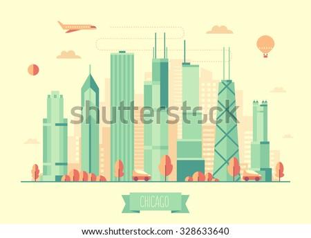 chicago skyline architecture