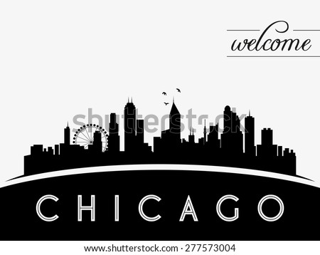 chicago skyline vector illustration download free vector art rh vecteezy com Chicago Skyline Wallpaper chicago skyline flag vector