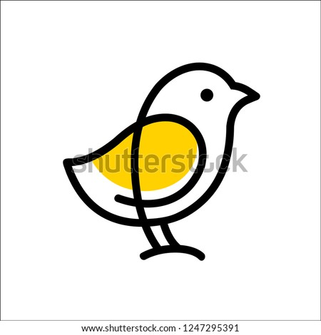 chick logo vector icon template