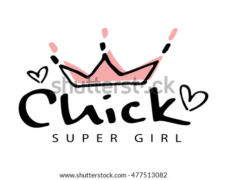 chick super girl and crown