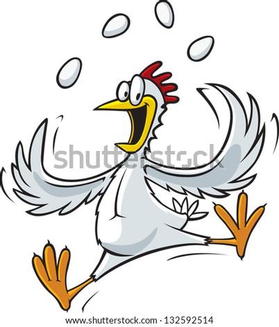 Chicken 4 - stock vector