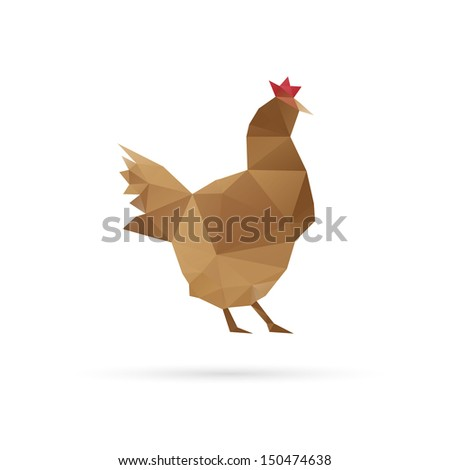 Chicken abstract isolated on a white backgrounds