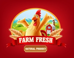 chicken banner illustration