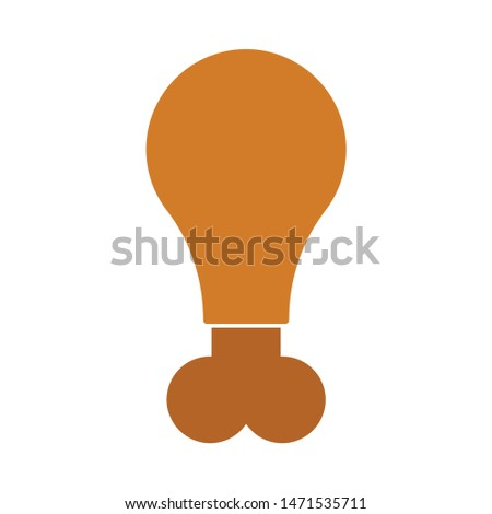 chicken-leg icon. flat illustration of chicken-leg - vector icon. chicken-leg sign symbol