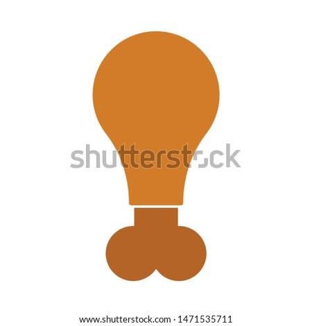 chicken-leg icon. flat illustration of chicken-leg - vector icon. chicken-leg sign symbol