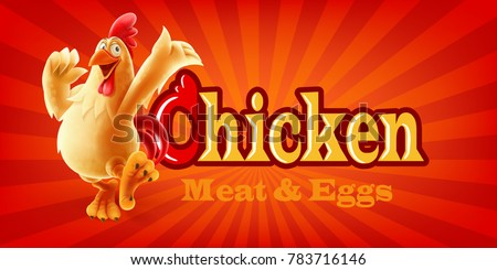 chicken meat and eggs