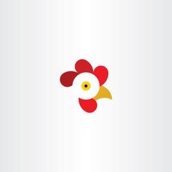 chicken or rooster head logo vector symbol