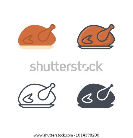 Chicken vector icon