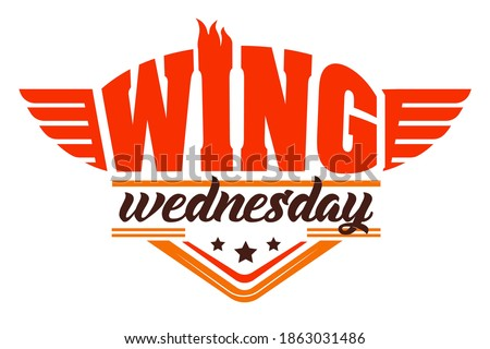 Chicken wing on Wednesday night, special offer icon