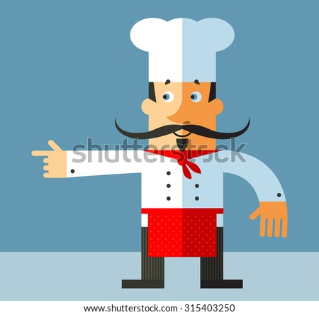 chief cook flat vector