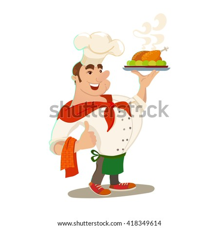 chief cook waiter man with