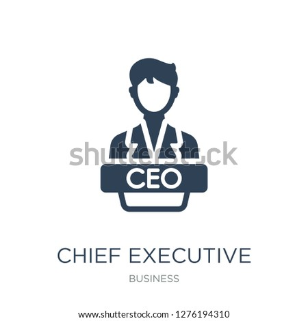 chief executive officer icon vector on white background, trendy filled icons from Business collection, chief executive officer vector illustration
