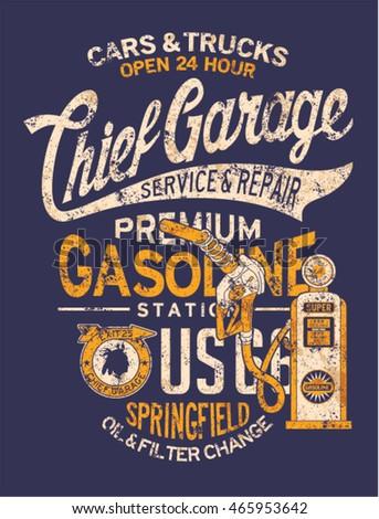 chief garage gasoline station ...