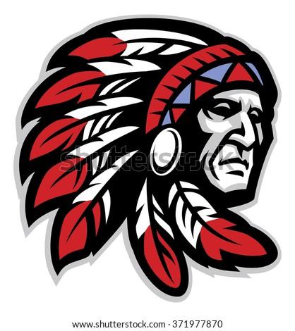 chief mascot head
