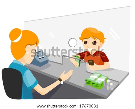 Child Banking - Vector