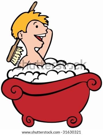 Child Bathing Stock Vector 31630321 : Shutterstock