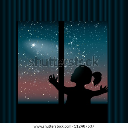 Comet in Night Sky Night Sky Background