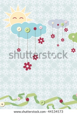 Child card. Vector