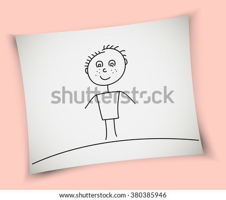 child drawing   boy