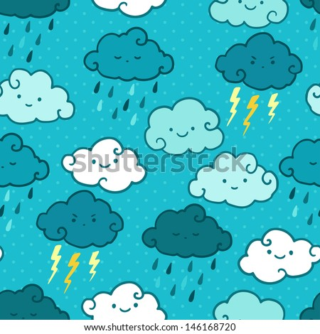 child drawing style rainy