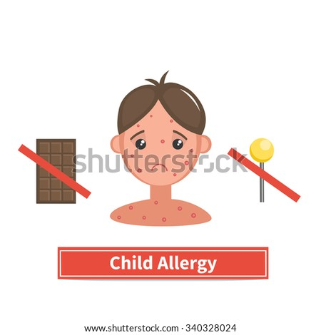 child face covered by acne