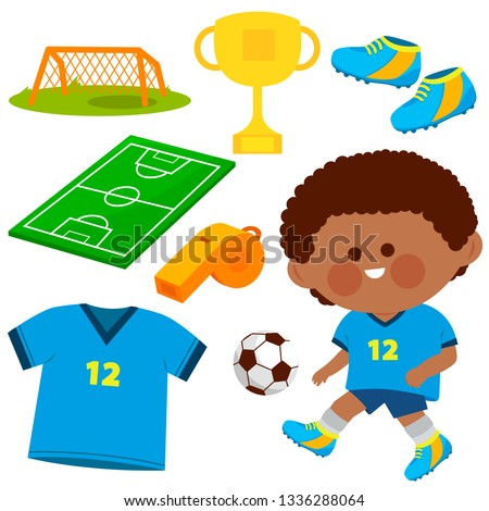 928eb0982 Vector soccer illustration collection - Shutterstock ID 1336288064